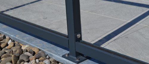 Aluminium Glashekwerk op Stalen frame
