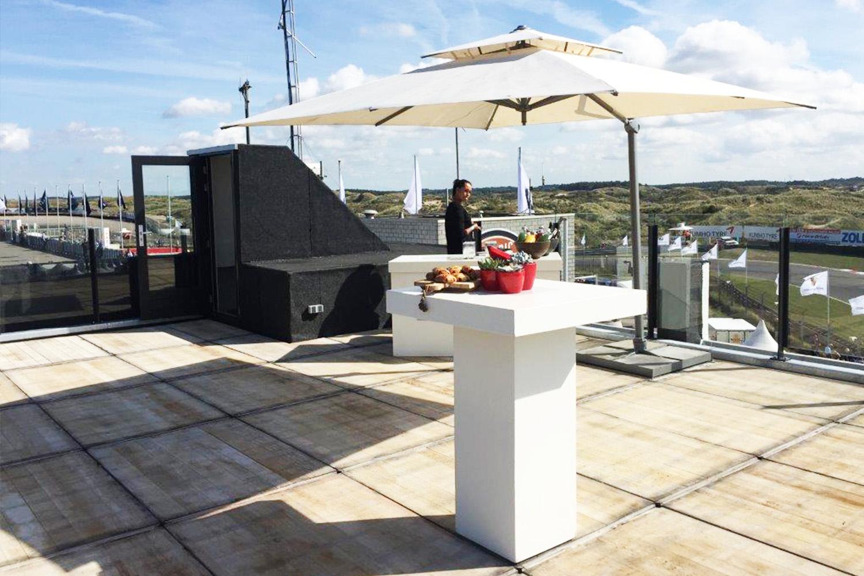 Renoparts glashekwerk dakterras Circuit Park Zandvoort
