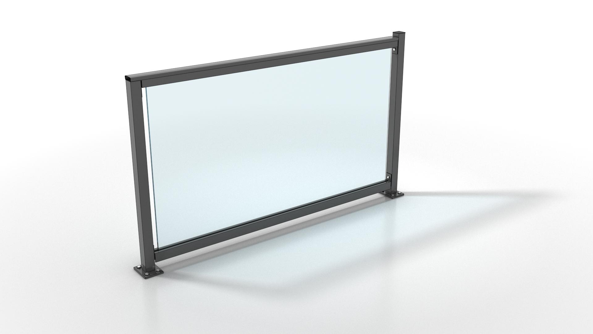 Glas tussen balusters
